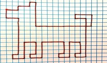 Простой графический диктант по клеточкам