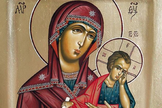 Старорусская икона Богородицы