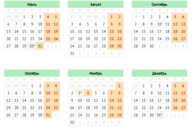 Производственный календарь для Крыма