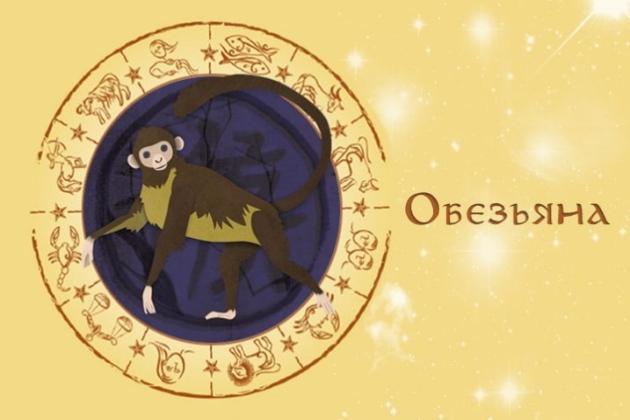 Восточный гороскоп Обезьяны